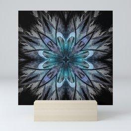 Crystal Blue Mandala Mini Art Print