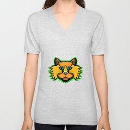 Selkirk Rex Cat Mascot Unisex V-Neck