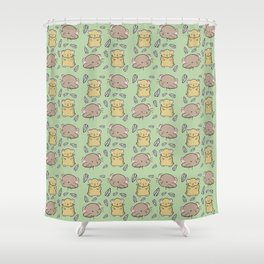 Hamster Pattern Shower Curtain