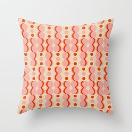 Uende Love - Geometric and bold retro shapes Throw Pillow