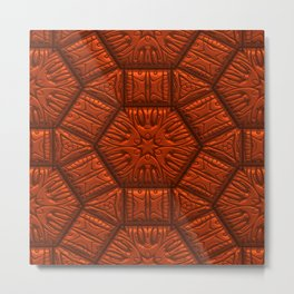 Intriguing shimmering Star Pattern,red Metal Print