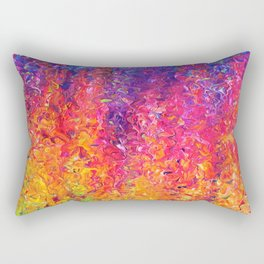 Fluoro Rain Rectangular Pillow