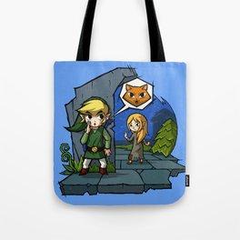 Legend of Zelda Wind Waker Meow T-Shirt Tote Bag