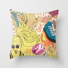 Pop Doodle Throw Pillow