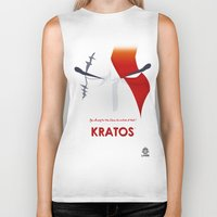 vector Biker Tanks featuring Vector Kratos by LoweakGraph