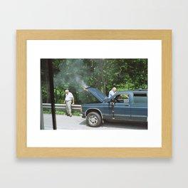 Burning Truck Framed Art Print