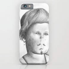 Mustached Girl  iPhone 6s Slim Case