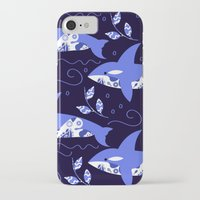 killer whale iPhone & iPod Cases featuring Killer whale pattern by luizavictoryaPatterns