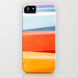Row of kayaks iPhone Case
