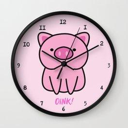 Cute pink piglets Oink Oink! Wall Clock