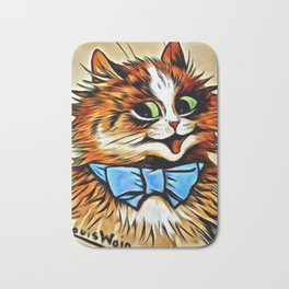 "Louis Wain's Cats ""Tabby with Blue Bow"" Bath Mat"