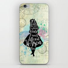 Alice in Wonderland - I Was A Different Person Then iPhone Skin