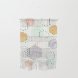 Hexagon Scatter Wall Hanging