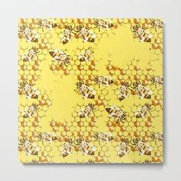 Honey Hive Metal Print