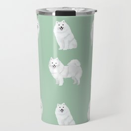 Japanese Spitz pure breed dog pattern pet gifts for dog lovers Travel Mug