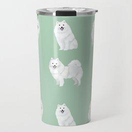 Japanese Spitz pure breed dog pattern pet gifts for dog lovers Travel Mug