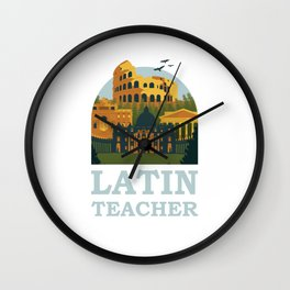 Latin Teacher Ancient Rome Wall Clock