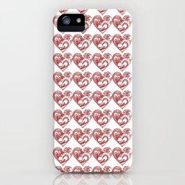 Zentangle Hearts iPhone Case