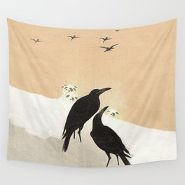 Crows from Koson Wall Tapestry