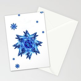duck tail snowflake 22 Stationery Cards