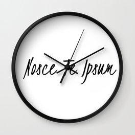 Know thyself-nosce te ipsum Wall Clock