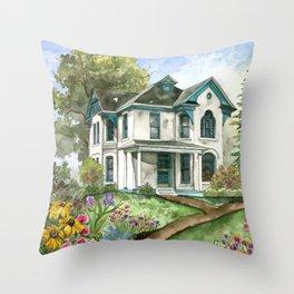 Garden House Throw Pillow