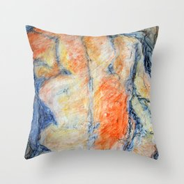 Colored Man Throw Pillow