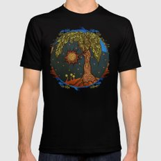 Mystic Tree Noche by Pom Graphic Design & Viviana Gonzalez Mens Fitted Tee Black LARGE