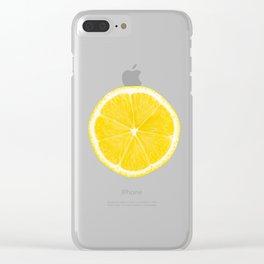 LOVE LEMON Clear iPhone Case