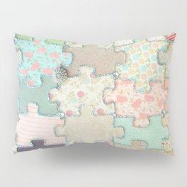 Rustic Jigsaw Pillow Sham
