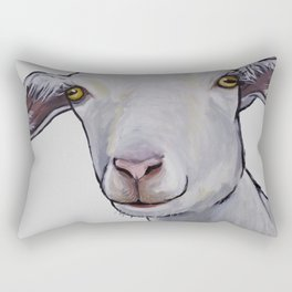 Cute Goat Art, Goat art in neutrals Rectangular Pillow