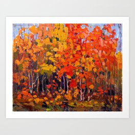 Tom Thomson - Autmn Wood - Canada, Canadian Oil Painting - Group of Seven Art Print