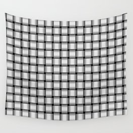 Small Pale Gray Weave Wall Tapestry