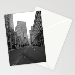 Boston streets Stationery Cards