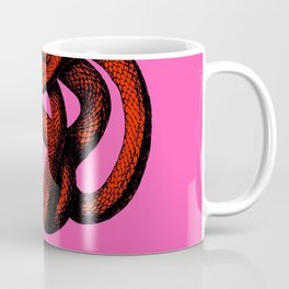 Snek 3 Snake Orange Pink Coffee Mug