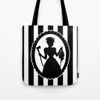black widow Tote Bags featuring Widow by babydark