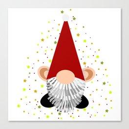 Santa - Gnome Canvas Print