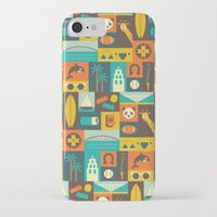 san diego iPhone & iPod Cases featuring San Diego  by Ariel Wilson