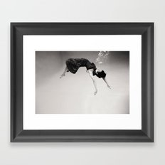 A Girl (Underwater) Framed Art Print
