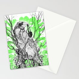 Our Green Crow's Heart Stationery Cards