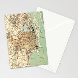 Vintage Map of Mobile Alabama (1940) 2 Stationery Cards