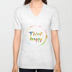 Think Happy Unisex V-Neck