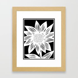 black and white, art print, art print, Drawing, Flowers, Botanical, Artwork, Home decor, Print, Bota Framed Art Print