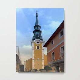 The village church of Ulrichsberg | architectural photography Metal Print