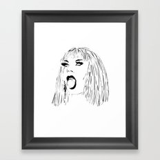 Katya Open Mouth Framed Art Print