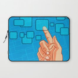 Hand pushing a button Laptop Sleeve