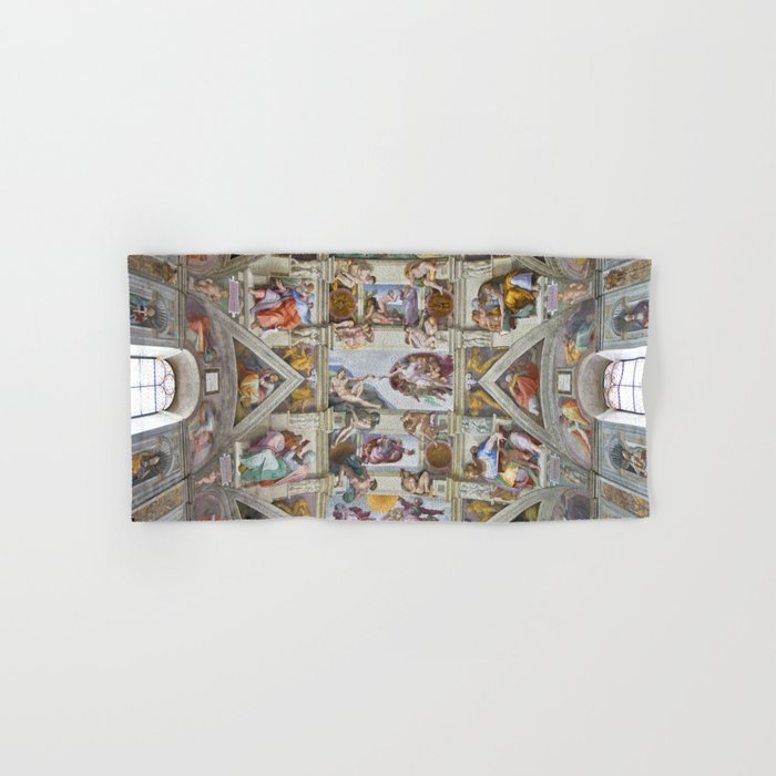 Michelangelo Sistine Chapel Ceiling Hand Bath Towel By