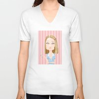 tenenbaum V-neck T-shirts featuring Margot Tenenbaum The Royal Tenenbaums by suPmön