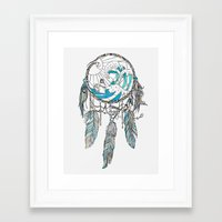dream catcher Framed Art Prints featuring Dream Catcher by Huebucket