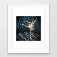 ballerina Framed Art Prints featuring ballerina by Ancello